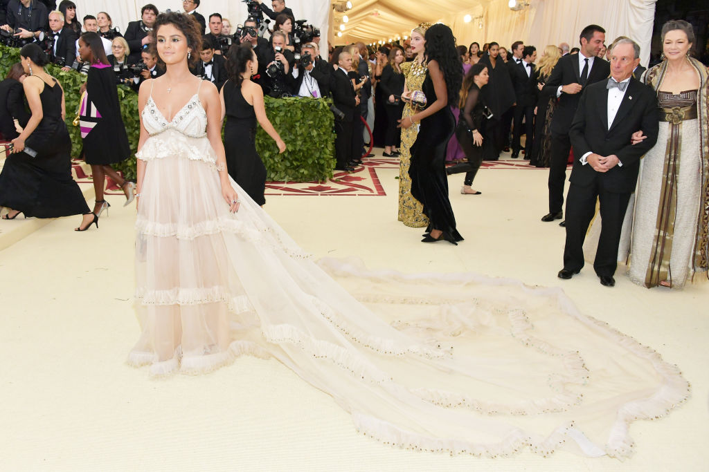 Selena Gomez continued her Met Gala tradition of placing hidden messages in her dress