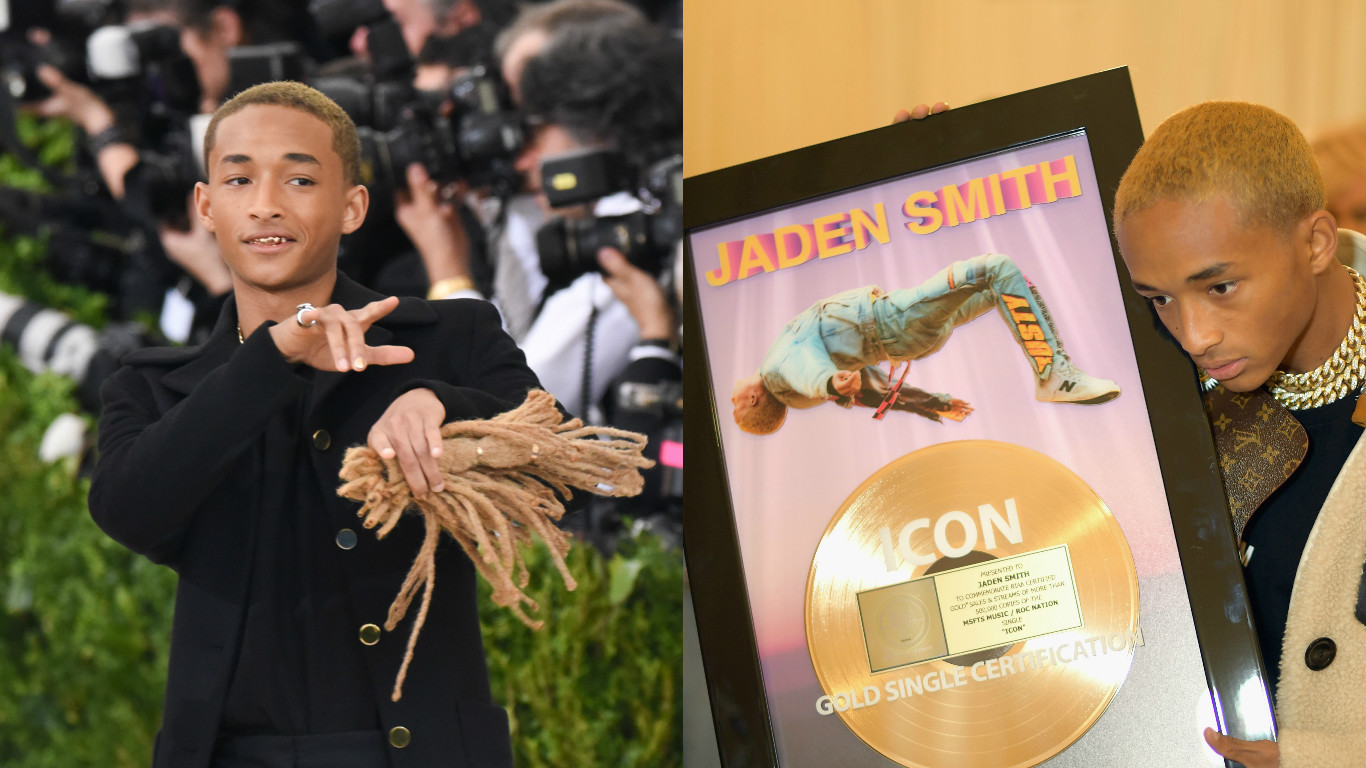 Remember last year when Jaden Smith brought his hair to the Met Gala? Cool, well this year he brought a picture frame