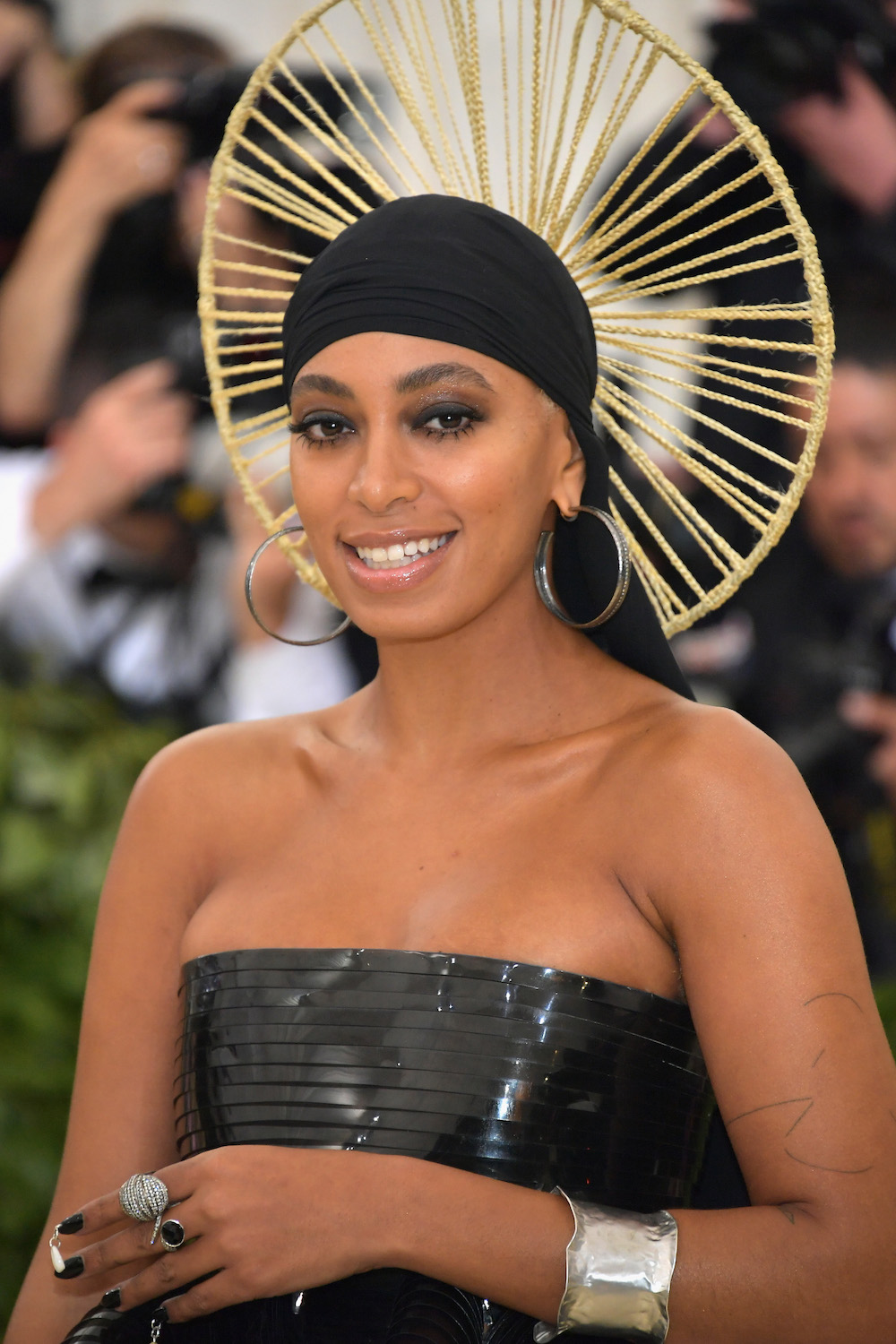 Solange paired latex with a du-rag on the Met Gala red carpet