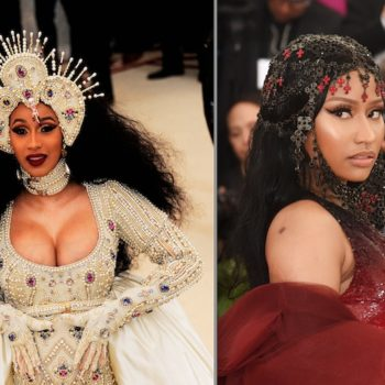 """This photo of Cardi B and Nicki Minaj at the 2018 Met Gala proves the internet cares more about their """"feud"""" than they do"""