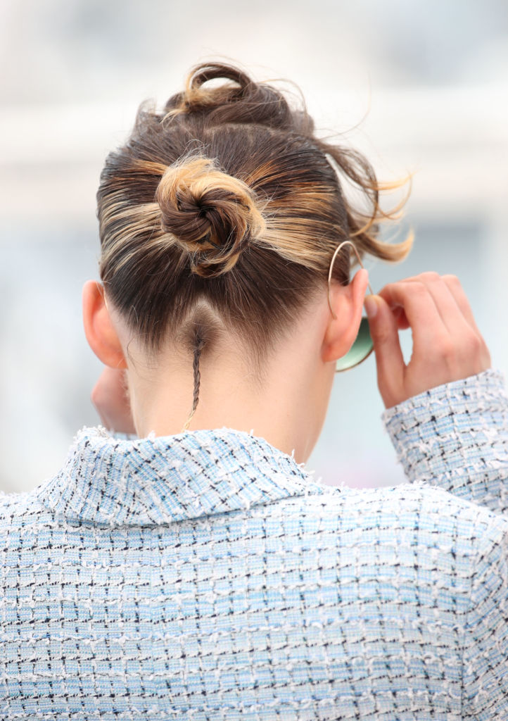 Kristen Stewart At Cannes Wearing A Tiny Rat Tail