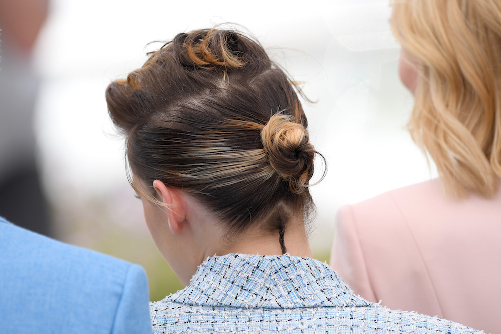 Rat Tail Hair Style: Kristen Stewart At Cannes Wearing A Tiny Rat-Tail