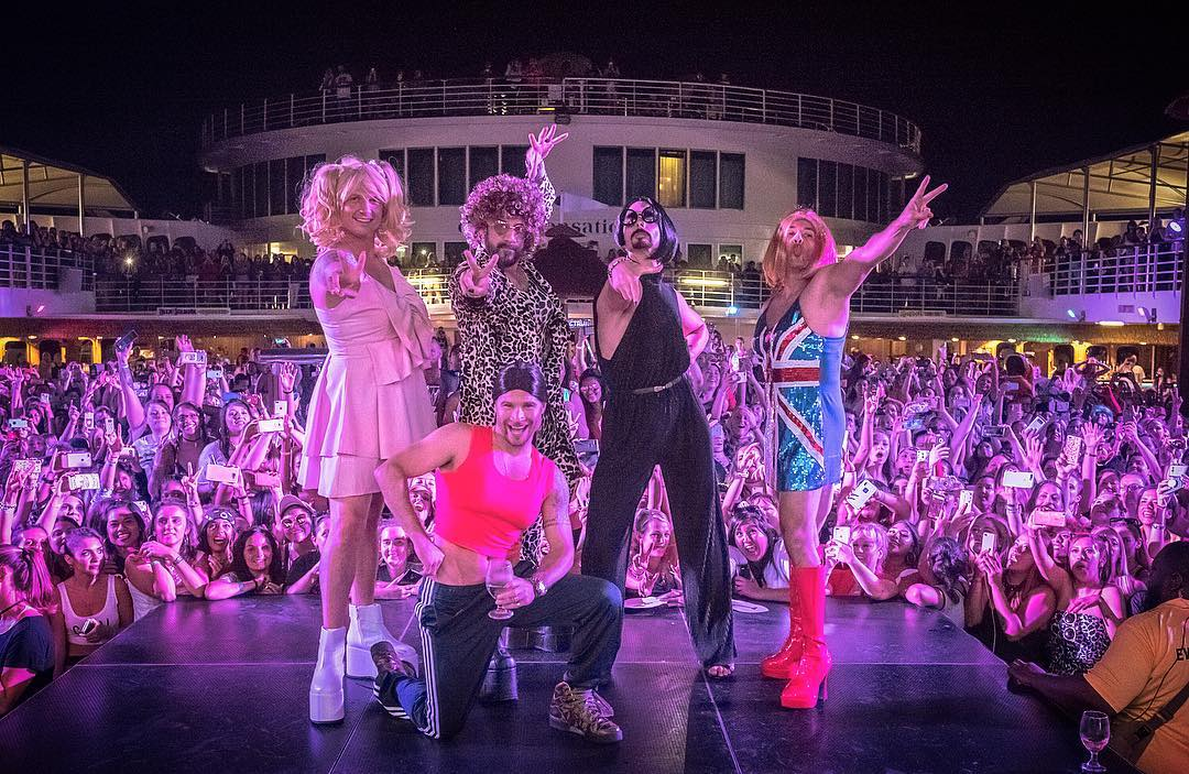 The Backstreet Boys really wannabe Spice Girls, because they just dressed up like them