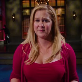 "Amy Schumer is literally the worst NBC tour guide ever in her new ""SNL"" promo"