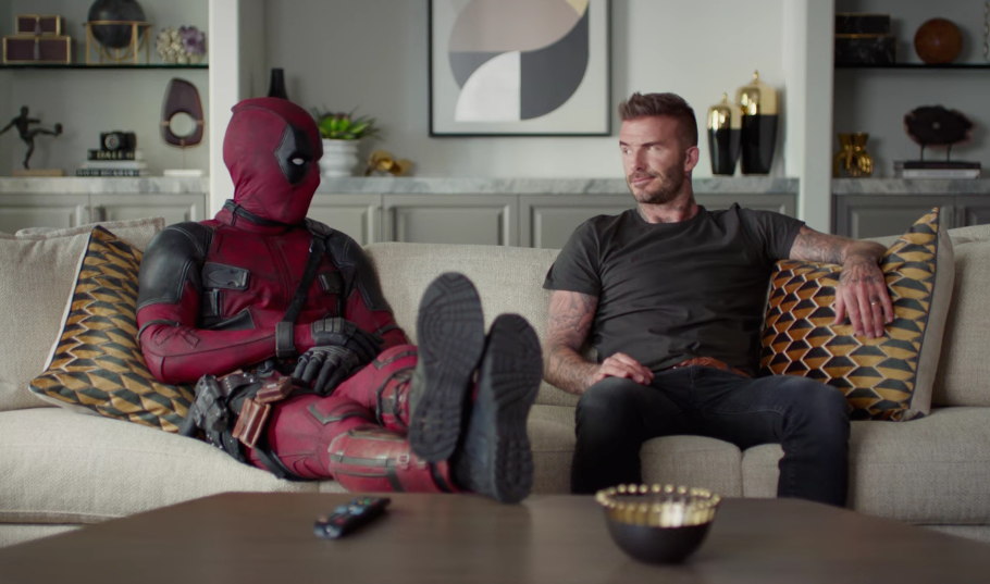 Deadpool is now on an apology tour, and his first stop is making amends with David Beckham for a joke in the first movie