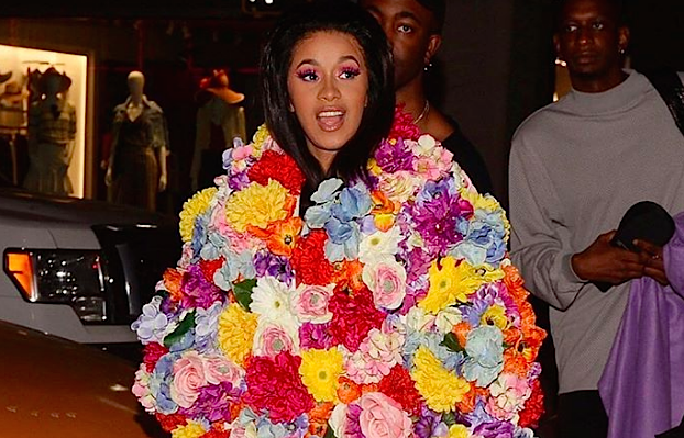 Cardi B dressed like a Mother's Day bouquet and killed it, because she's Cardi B
