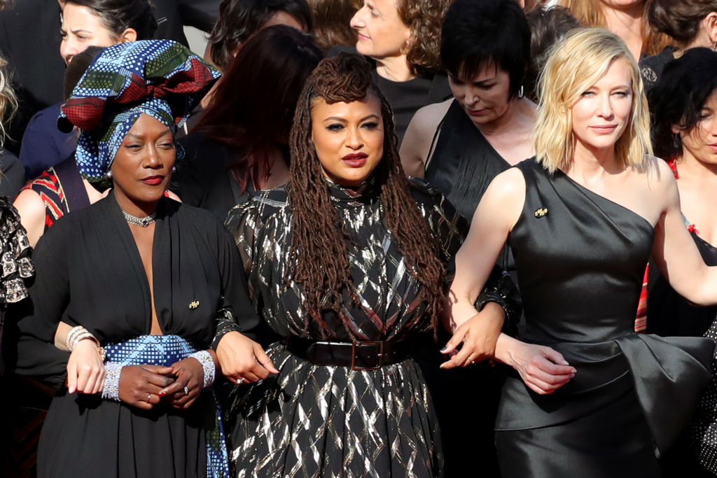 82 of your favorite women in Hollywood just led a powerful women's march on the Cannes red carpet