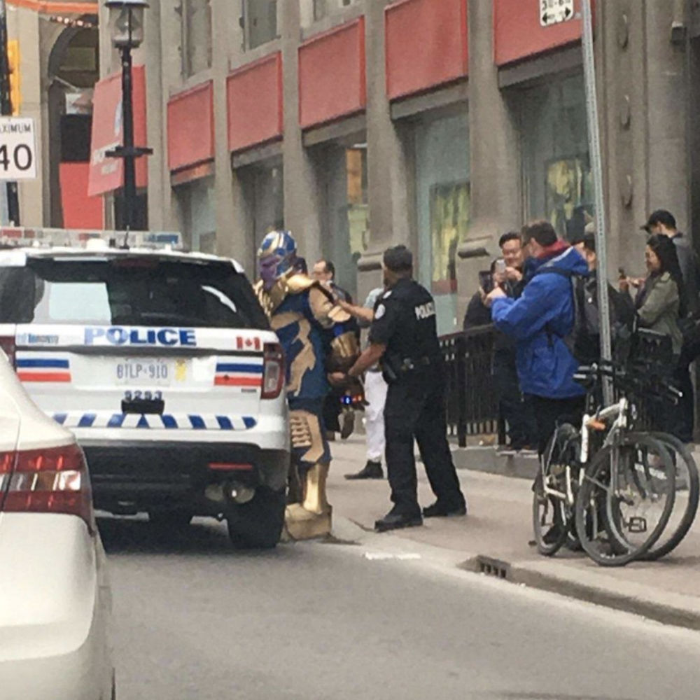 Toronto police arrested Thanos from <em>Infinity War</em>, Twitter has jokes for days