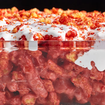 Are you brave enough to try these Flamin' Hot Cheetos marshmallow treats?