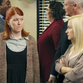 Angela and Meredith just recreated a classic <em>The Office</em> scene, and now we're demanding a revival