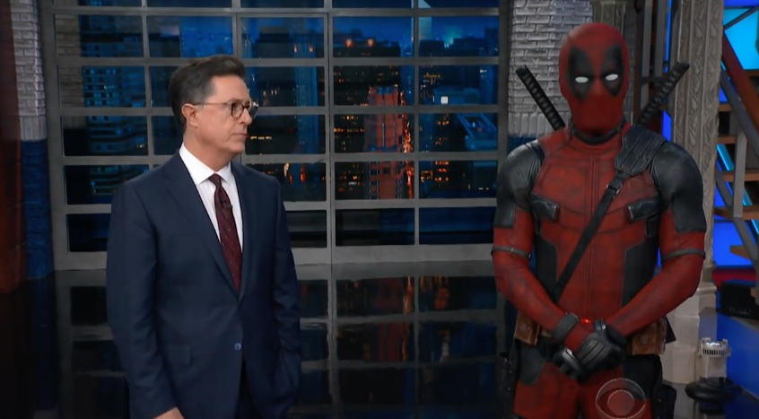 Deadpool crashed Stephen Colbert's monologue last night — and trash-talked Ryan Reynolds
