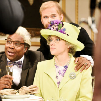 <em>SNL</em> parodied the royal wedding reception, and Kate McKinnon was born to play Queen Elizabeth