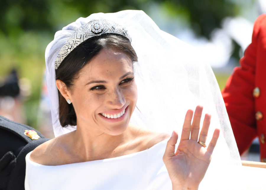 Nordstrom has a wedding dress that looks a lot like Meghan Markle's for less