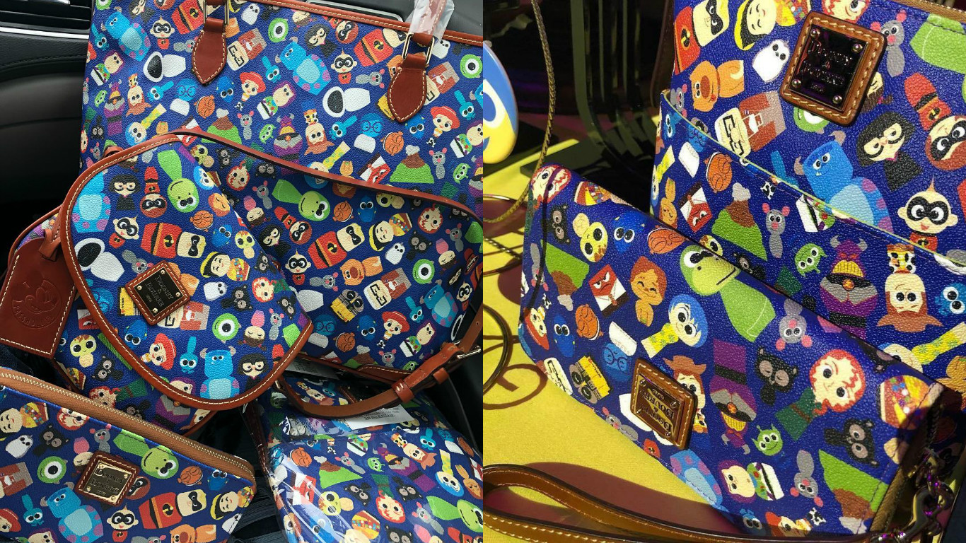 Disney's latest Dooney and Bourke collection features *all* your favorite Pixar characters