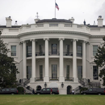 A sinkhole has been spotted on the White House lawn, and the metaphors write themselves