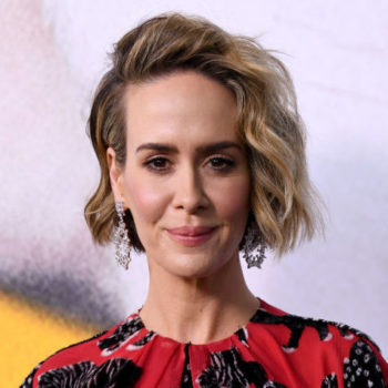 Sarah Paulson improvised a bunch of X-rated lines on the set of <em>Ocean's 8</em> — but they were all too inappropriate for the final cut
