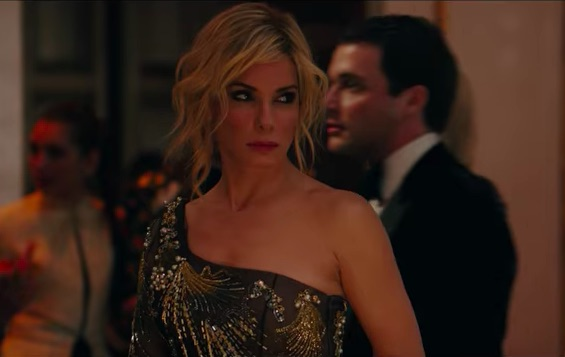 "There's a hidden message in Sandra Bullock's Met Gala dress in <em>Ocean's 8</em>, and we ""sea"" what you did there"