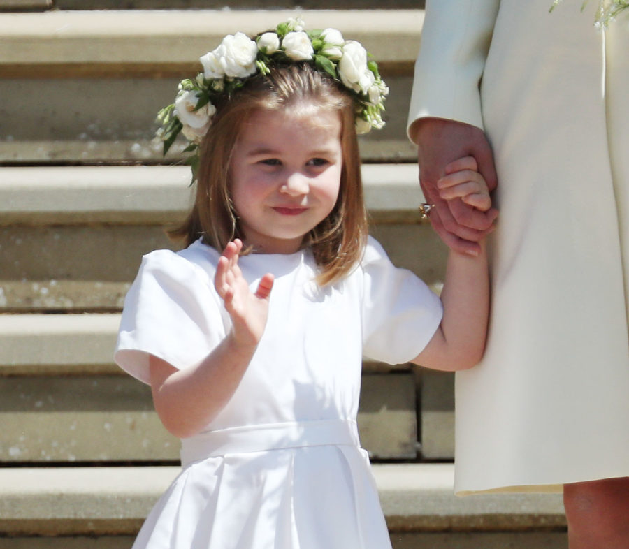 "Princess Charlotte totally took charge of the other kids at the royal wedding: ""No, you can't go yet!"""