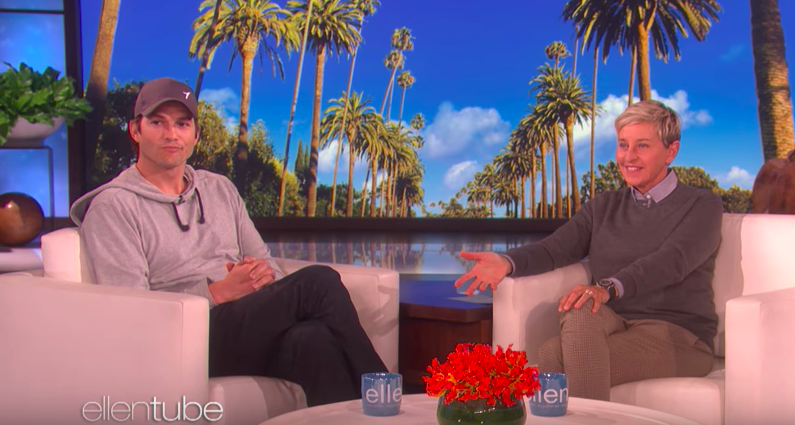 Ashton Kutcher just gave Ellen DeGeneres $4 million to save the gorillas — and yes, you'll cry watching the video