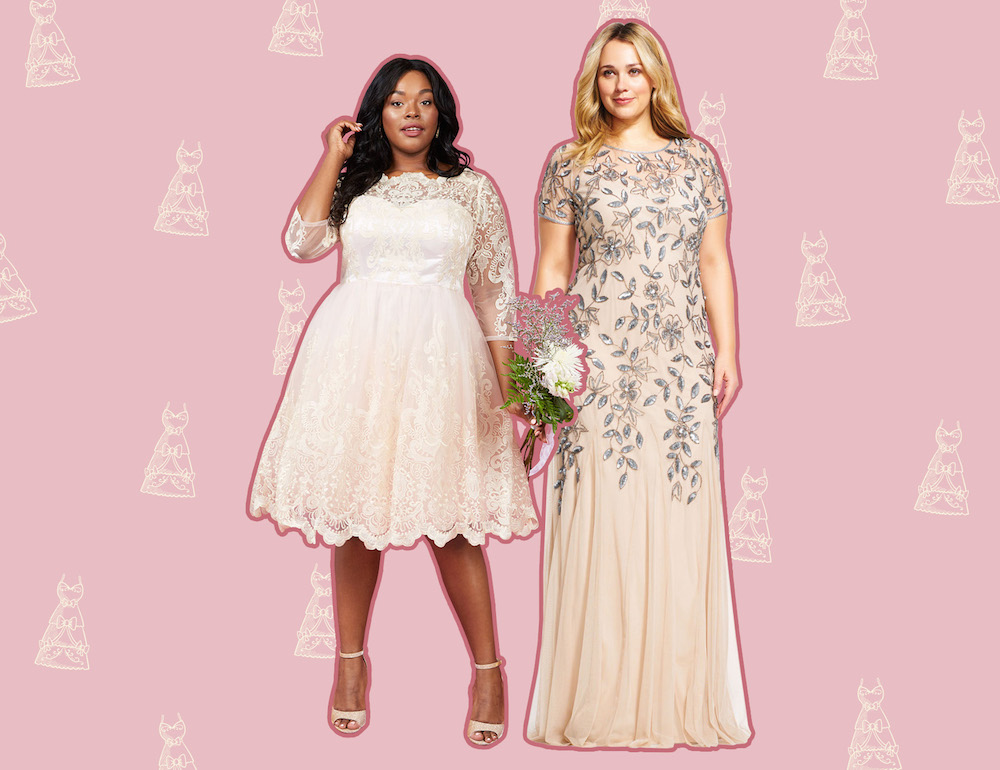 455715eed60 14 Affordable Plus-Size Wedding Dresses That Cost Under  400 ...