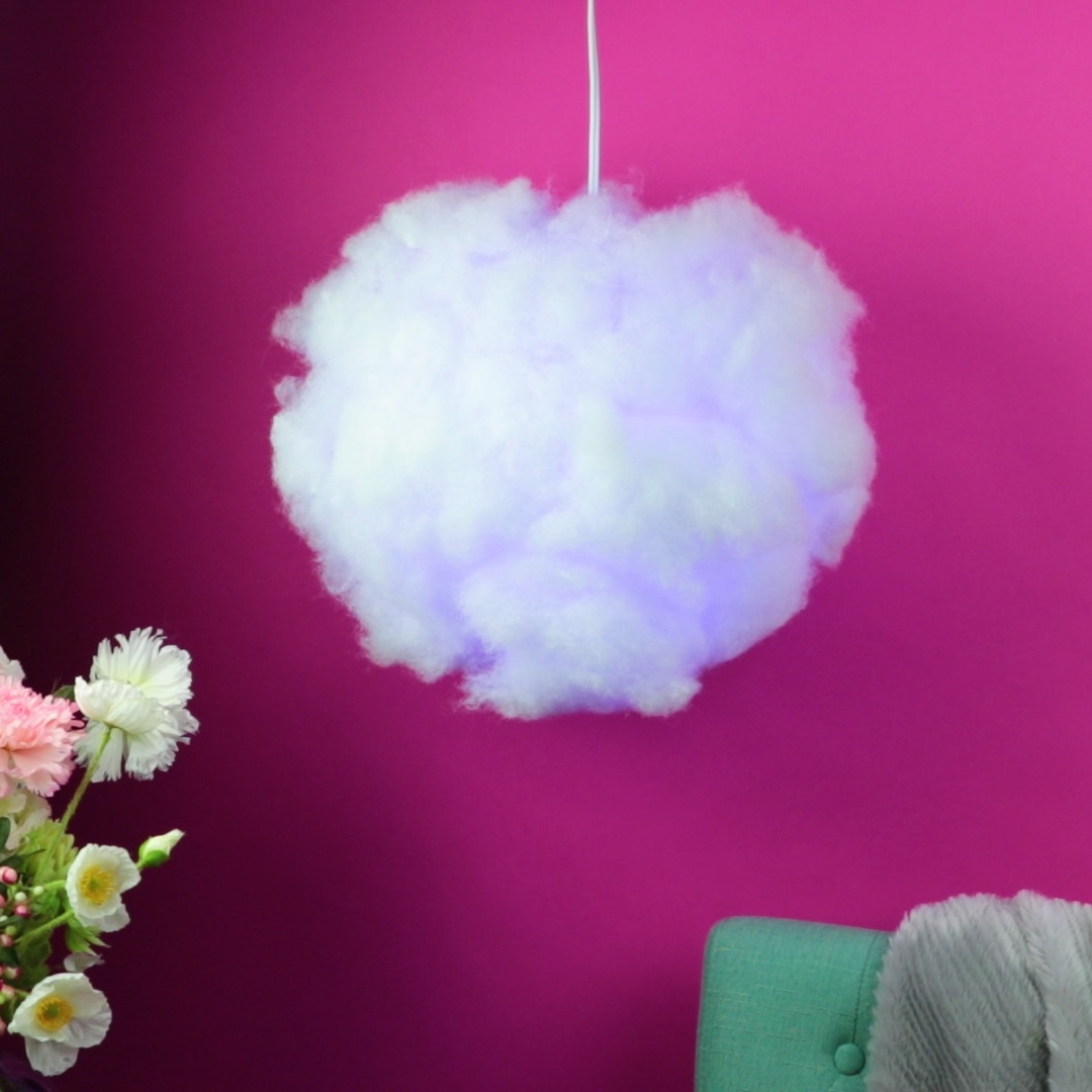 Create your own silver lining with this DIY cloud lamp