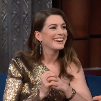 Anne Hathaway re-watched the first commercial she ever acted in, and it's so bad, it's good