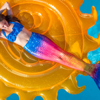 Transform yourself into a mermaid this summer with a sparkly swimmable mermaid tail