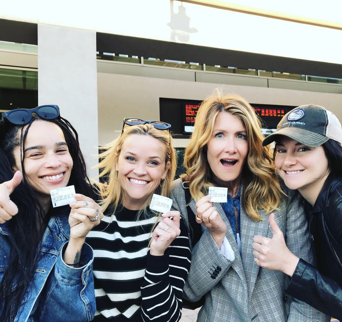 The <em>Big Little Lies</em> cast saw Shailene Woodley's new movie together, because they're forever friendship goals
