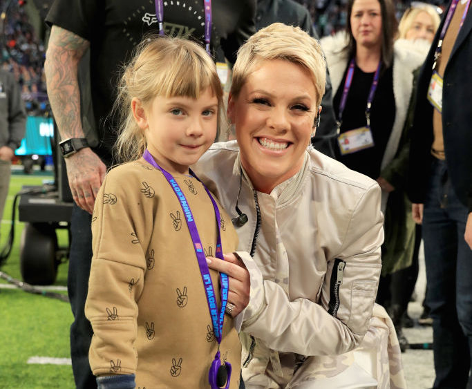 Pink's 7-year-old daughter dyed her hair a wild color...but it's not pink