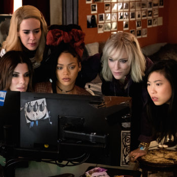 The first time all the ladies filmed together for <em>Ocean's 8</em> was *the day after* the 2016 presidential election