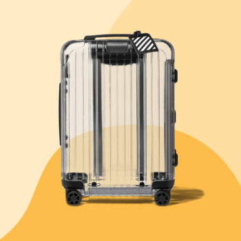 Clear carry-ons are now a thing, and they're surprisingly chic