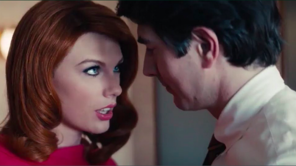 "Yes, Taylor Swift is giving us <em>Mad Men</em> vibes in Sugarland's ""Babe"" music video — but she's also serving serious <em>Red</em> vibes"