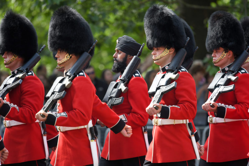 This Sikh guardsman made history at the queen's Trooping the Colour parade