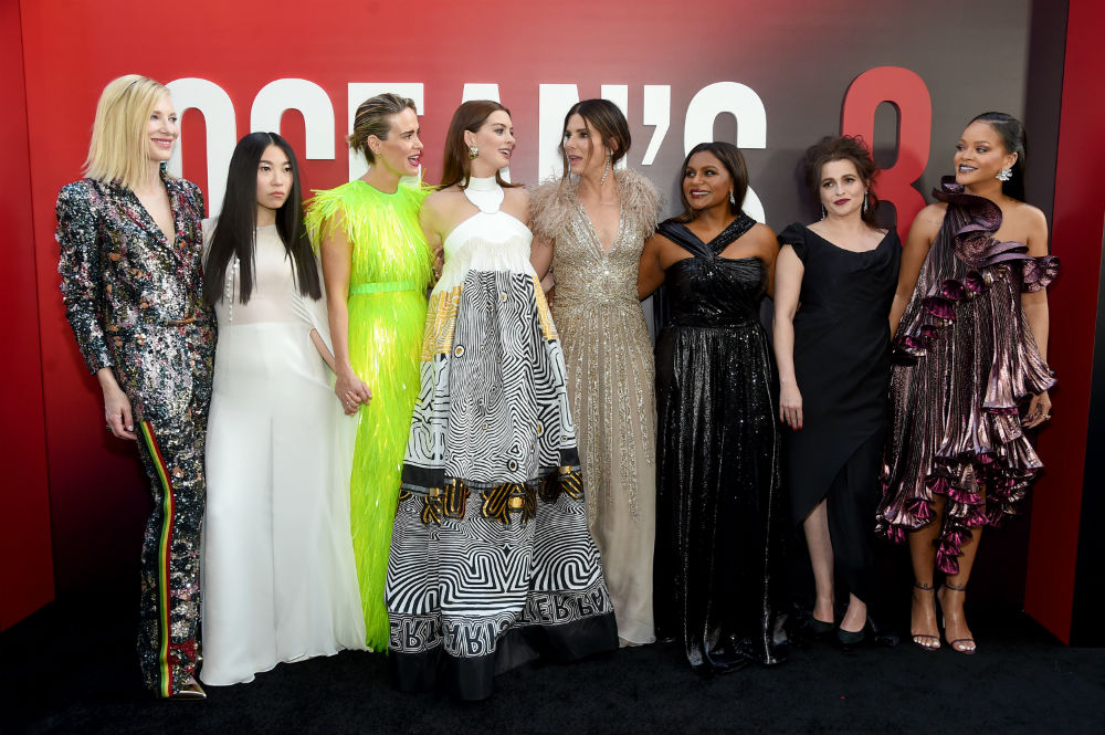 The women of <em>Ocean's 8</em> demanded they pause filming so that Anne Hathaway could pump breast milk, and YES