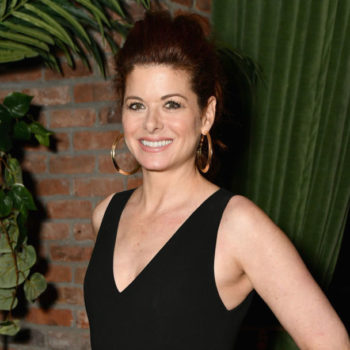 "Debra Messing got real about being forced to wear ""fake boobs"" early in her career: ""I'm flat-chested, I love it"""