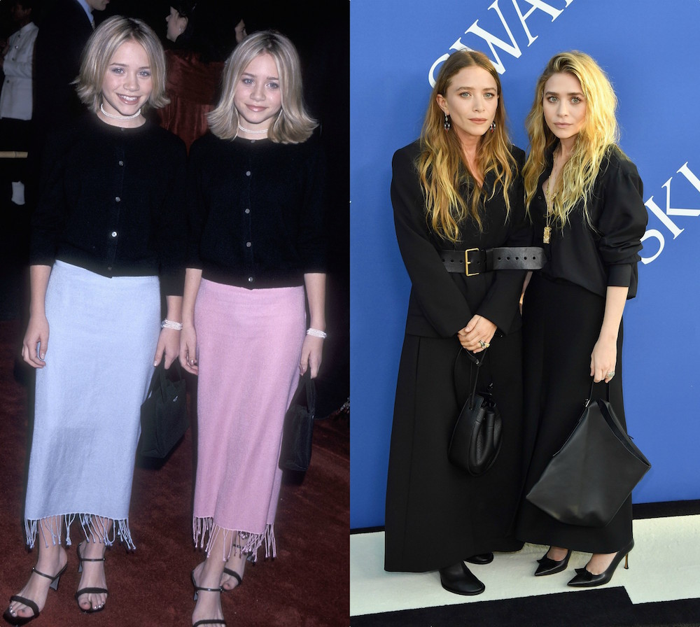 Mary-Kate and Ashley Olsen's style evolution from <em>Our Lips Are Sealed</em>-era to red carpet goth-glam