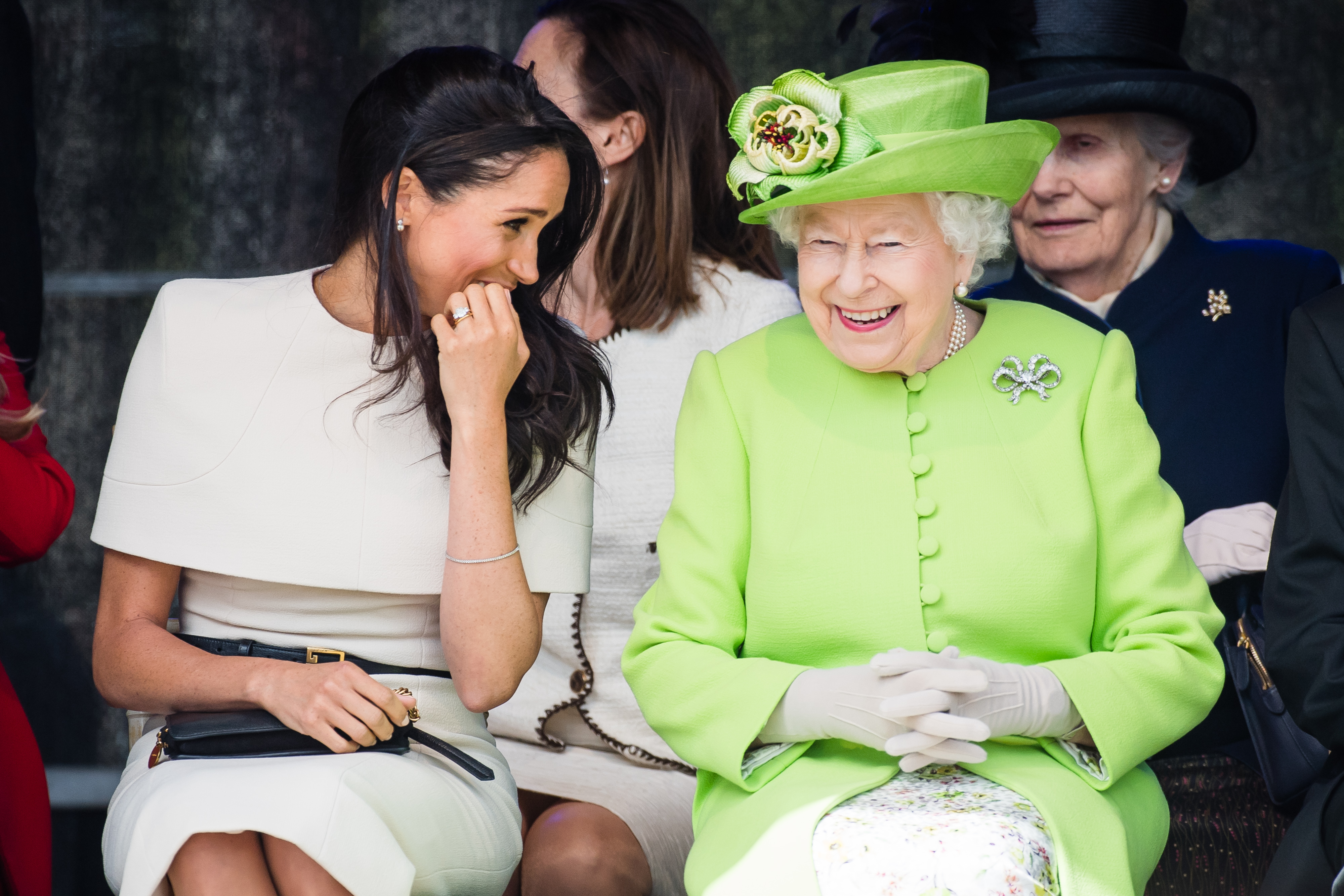 Meghan Markle and the queen had their first solo outing, and appear to be besties based on the pics