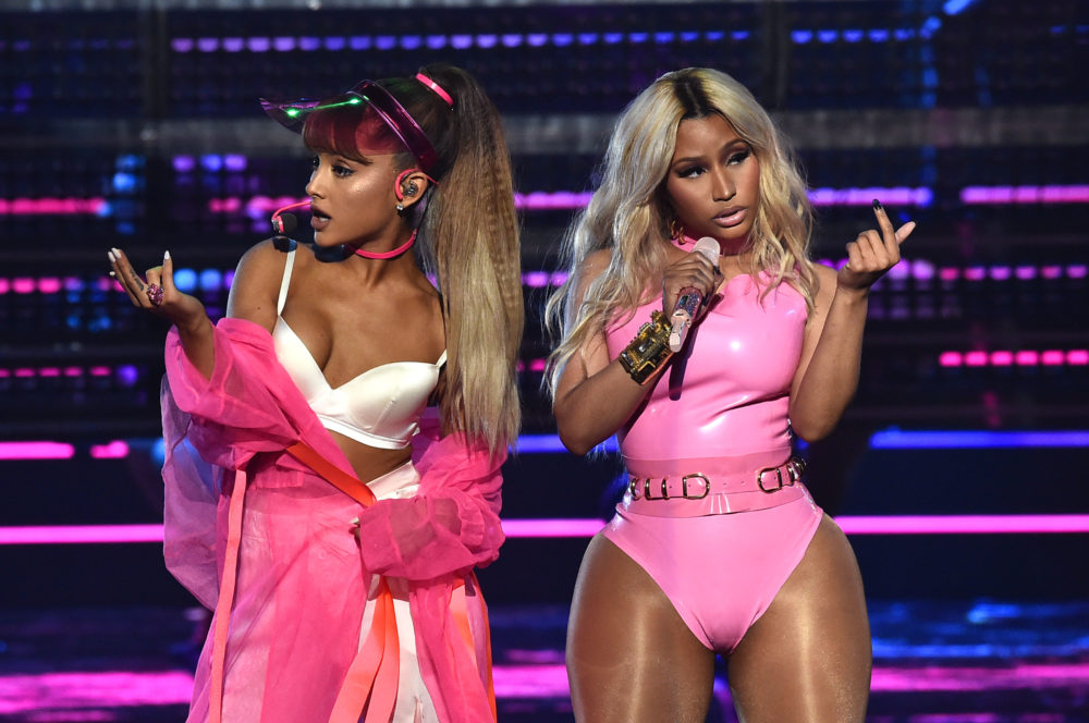 """Nicki Minaj and Ariana Grande posted a teaser for their upcoming """"Bed"""" music video, and yes, there are bubbles"""