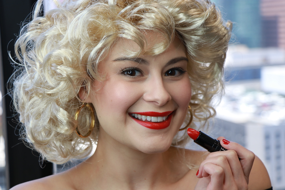 "For <em>Grease's</em> 40th anniversary, I recreated Sandy's iconic ""bad girl"" makeup"
