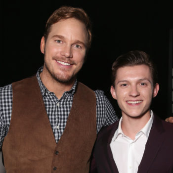 Even though he's NOT IN THE MOVIE, Tom Holland spoiled all of <em>Jurassic World: Fallen Kingdom</em> for Chris Pratt