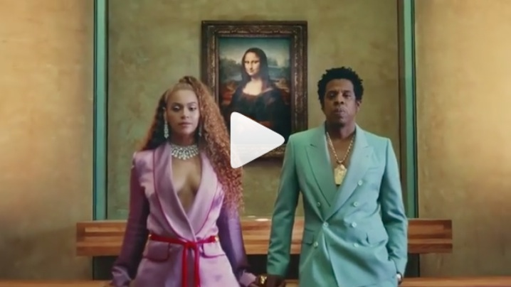 "The video for Beyoncé and Jay-Z's ""Apes**t"" from <em>Everything Is Love</em> is an actual masterpiece"