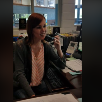 "A school receptionist sang a stunning version of ""At Last"" over the PA to kick off summer break, is officially today's hero"