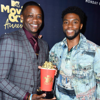 Chadwick Boseman gave his 2018 MTV Movie & TV award to James Shaw Jr., aka the Waffle House hero