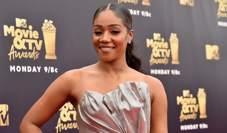 Tiffany Haddish wore an exact replica of Meghan Markle's wedding dress at the 2018 MTV Movie & TV Awards
