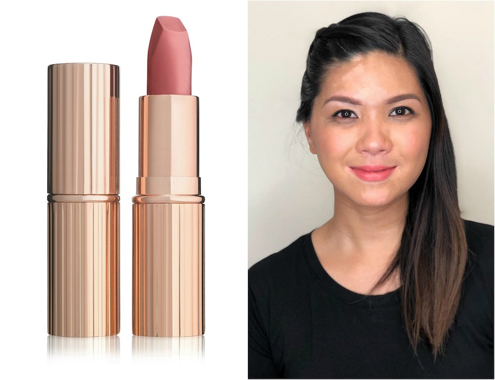 How Charlotte Tilbury Sunset Lover Lipstick Looks On