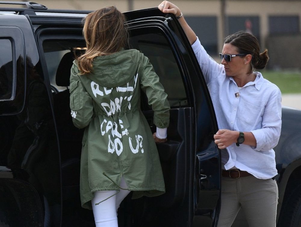 Angry about Melania Trump's jacket? Go to IReallyDoCare.com