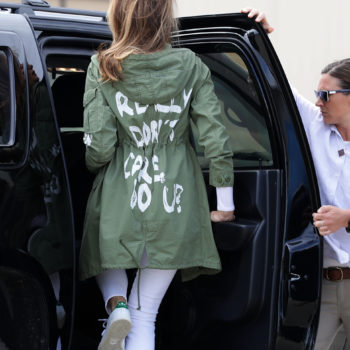 """A congresswoman responded to Melania Trump's """"I Really Don't Care"""" jacket with an """"I Care"""" sign, and we support this message"""