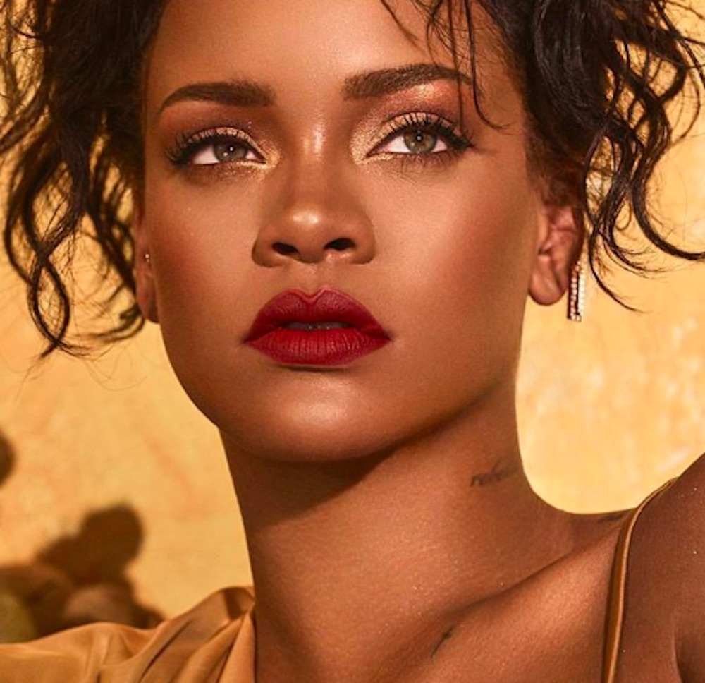 Rihanna teased a new Fenty Beauty Moroccan Spice Palette, Flyliner, Pro Filt'r Eye Primer, and more