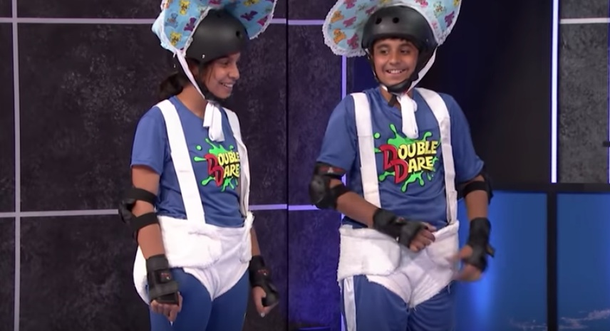 Nickelodeon just released a 5-minute peek at the <em>Double Dare</em> reboot — which premieres tonight!