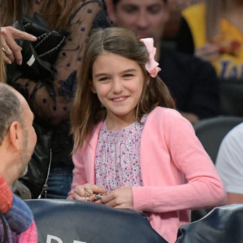 Suri Cruise set up a lemonade stand at the NYC Pride Parade, and we love every single thing about this